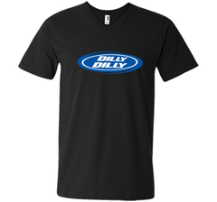 Bud Light Dilly Dilly Oval Blue Shirt Men Printed V-Neck Tee - PresentTees