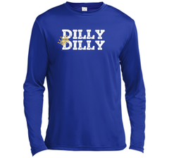 Dilly Dilly Crown Football T Shirt LS Moisture Absorbing Shirt - PresentTees