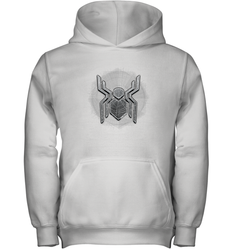 Marvel Spider Man Far From Home Web Spider Chest Logo Youth Hooded Sweatshirt
