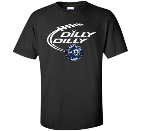 DILLY DILLY  Los Angeles Rams shirt Black / Small Custom Ultra Cotton Tshirt - PresentTees
