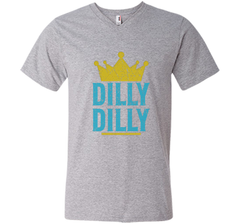 Dilly Dilly A True friend of the crown King T Shirt Men Printed V-Neck Tee - PresentTees