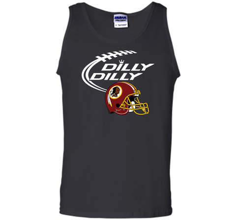 DILLY DILLY Washington Redskins NFL Team Logo Black / Small Tank Top - PresentTees