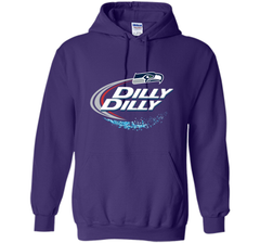 Seattle Seahawks SEA Dilly Dilly Bud Light T Shirt SEA NFL Football Gift for Fans Pullover Hoodie 8 oz - PresentTees