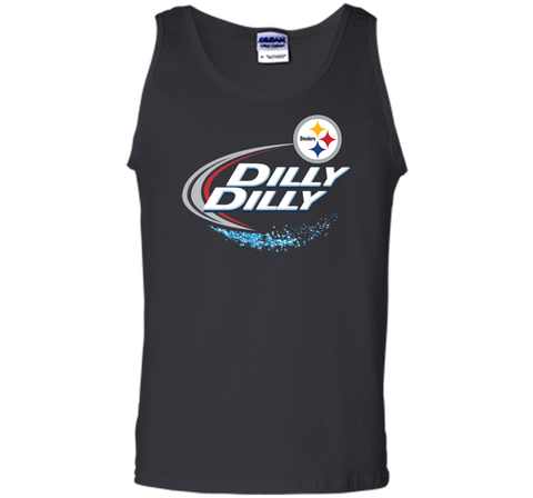 Pittsburgh Steelers Dilly Dilly T-Shirt NFL Football Gift Fans Black / Small Tank Top - PresentTees