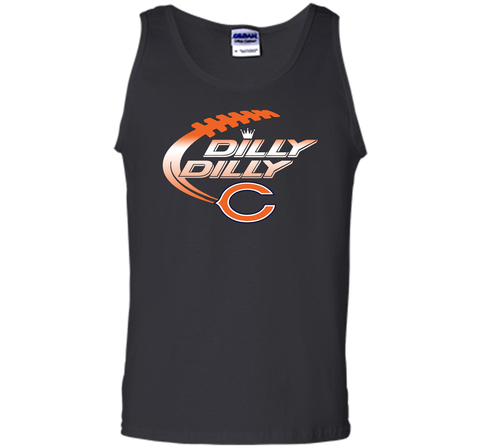 Chicago Bears Dilly Dilly T-Shirt Bud Light Christmas NFL Football Gift for Fans Black / Small Tank Top - PresentTees