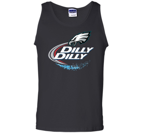 Philadelphia Eagles Dilly Dilly T-Shirt NFL Football Gift Fans Black / Small Tank Top - PresentTees