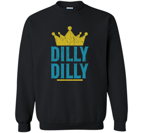 Dilly Dilly A True friend of the crown King T Shirt Black / Small Crewneck Pullover Sweatshirt 8 oz - PresentTees