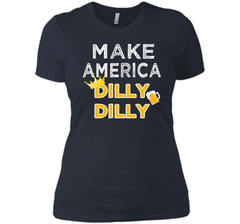 Make America Dilly Dilly Friend of the Crown Beer T Shirt Next Level Ladies Boyfriend Tee - PresentTees