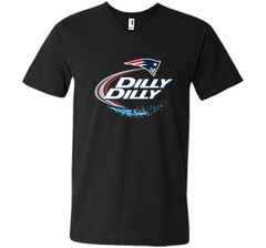 New England Patriots Dilly Dilly T-Shirt NFL Football Gift Fans Men Printed V-Neck Tee - PresentTees