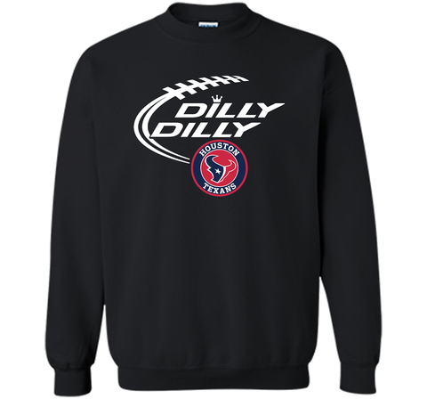 DILLY DILLY Houston Texans shirt Black / Small Crewneck Pullover Sweatshirt 8 oz - PresentTees