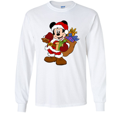 Disney Santa Mickey Mouse Christmas gifts LS Ultra Cotton TShirt - PresentTees