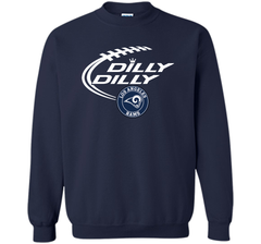 DILLY DILLY  Los Angeles Rams shirt Crewneck Pullover Sweatshirt 8 oz - PresentTees