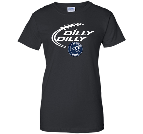 DILLY DILLY  Los Angeles Rams shirt Black / Small Ladies Custom - PresentTees