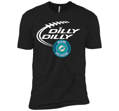 DILLY DILLY Miami dolphins shirt Black / Small Next Level Premium Short Sleeve Tee - PresentTees