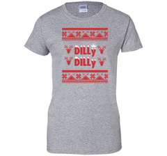 Dilly Dilly Funny Beer Christmas Ugly Sweater T Shirt Ladies Custom - PresentTees