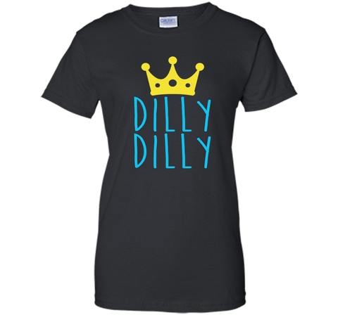Bud Light Dilly Dilly Crown T-Shirt Black / Small Ladies Custom - PresentTees