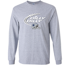Dilly Dilly Dallas Cowboy Logo American Football Team Bud Light Christmas T-Shirt LS Ultra Cotton TShirt - PresentTees