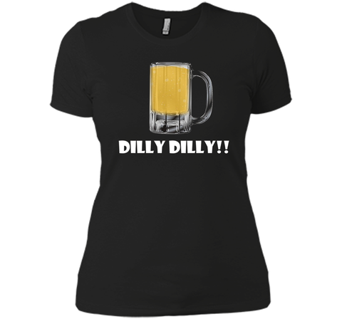 Dilly Dilly Beer Mug Alcohol Drink Stein Medieval T Shirt Black / Small Next Level Ladies Boyfriend Tee - PresentTees