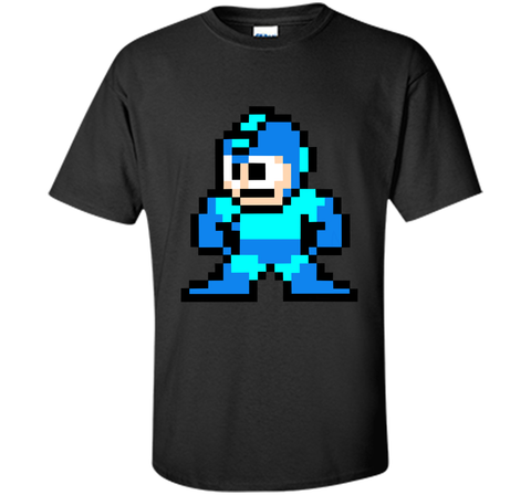 Megaman Pixel  T-Shirt Black / Small Custom Ultra Cotton Tshirt - PresentTees