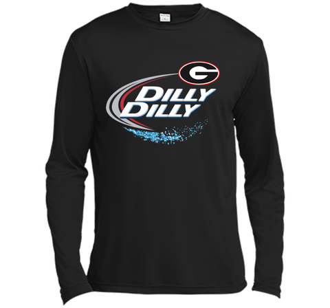 Dilly Dilly Georgia Bulldogs T-Shirt Georgia Bulldog Football Gift for Fans Black / Small LS Moisture Absorbing Shirt - PresentTees
