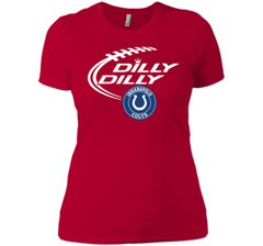 DILLY DILLY Indianapolis Colts shirt Next Level Ladies Boyfriend Tee - PresentTees
