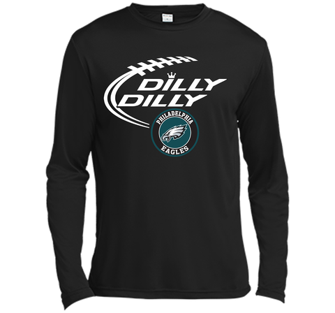 DILLY DILLY Philadelphia Eagles shirt Black / Small LS Moisture Absorbing Shirt - PresentTees
