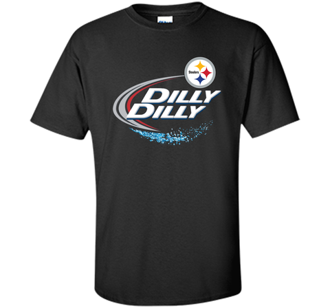 Pittsburgh Steelers Dilly Dilly T-Shirt NFL Football Gift Fans Black / Small Custom Ultra Cotton Tshirt - PresentTees
