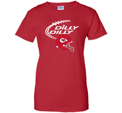 DILLY DILLY Kansas City Chiefs NFL Team Logo Ladies Custom - PresentTees