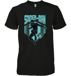 Marvel Spider Man Far From Home Stealth Suit Silhouette Men's Premium T-Shirt