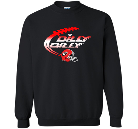 Georgia Bulldogs Dilly Dilly T-Shirt Dilly Dilly Georgia Bulldog Football Shirts for Fans Black / Small Crewneck Pullover Sweatshirt 8 oz - PresentTees