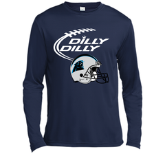 DILLY DILLY Carolina Panthers NFL Team Logo LS Moisture Absorbing Shirt - PresentTees