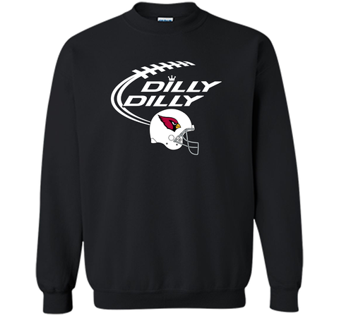 DILLY DILLY Arizona Cardinals NFL Team Logo Black / Small Crewneck Pullover Sweatshirt 8 oz - PresentTees