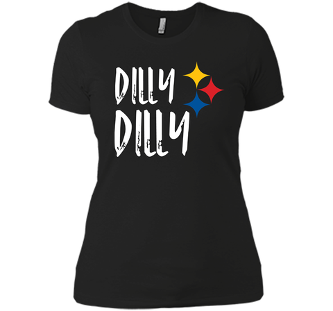 Dilly Dilly Pit of Misery Beer Roethlisberger Beer Football Pittsburgh Steelers Sweater Black / Small Next Level Ladies Boyfriend Tee - PresentTees