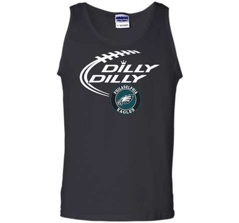 DILLY DILLY Philadelphia Eagles shirt Black / Small Tank Top - PresentTees