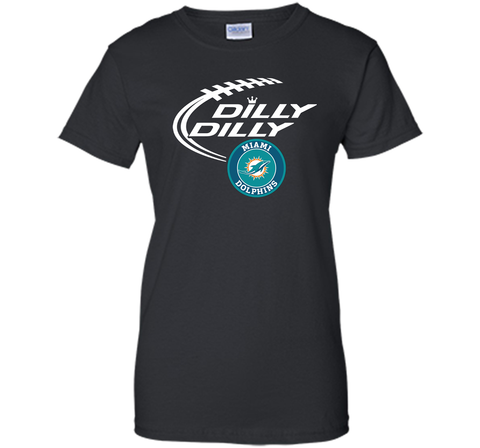 DILLY DILLY Miami dolphins shirt Black / Small Ladies Custom - PresentTees