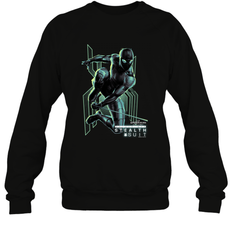 Marvel Spider Man Far From Home Stealth Suit Swing Poster Crewneck Sweatshirt