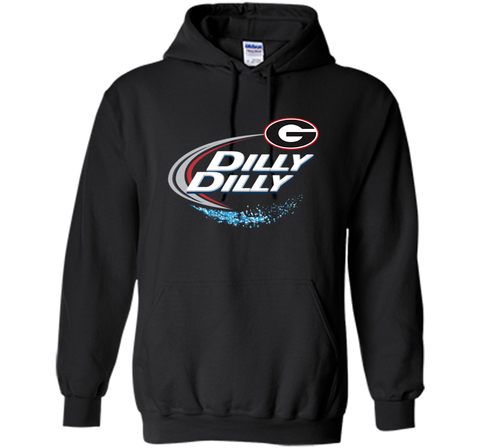 Dilly Dilly Georgia Bulldogs T-Shirt Georgia Bulldog Football Gift for Fans Black / Small Pullover Hoodie 8 oz - PresentTees
