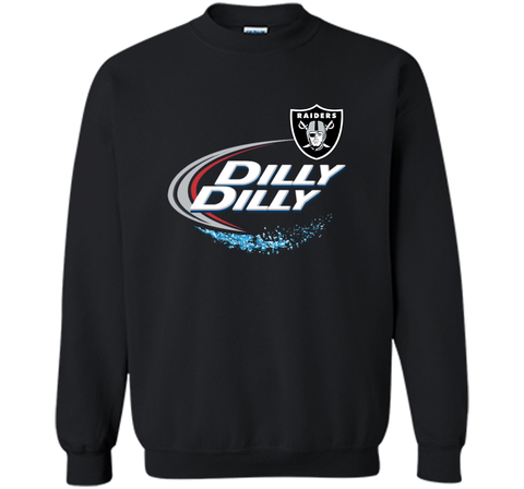 Oakland Raiders Dilly Dilly T-Shirt OAK NFL Football Gift for Fans Black / Small Crewneck Pullover Sweatshirt 8 oz - PresentTees