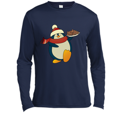 Penguin With Christmas Cookies Funny T-Shirt LS Moisture Absorbing Shirt - PresentTees