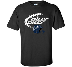 Seattle Seahawks Dilly Dilly Bud Light T-Shirt SEA NFL Football Gift for Fans Custom Ultra Cotton Tshirt - PresentTees
