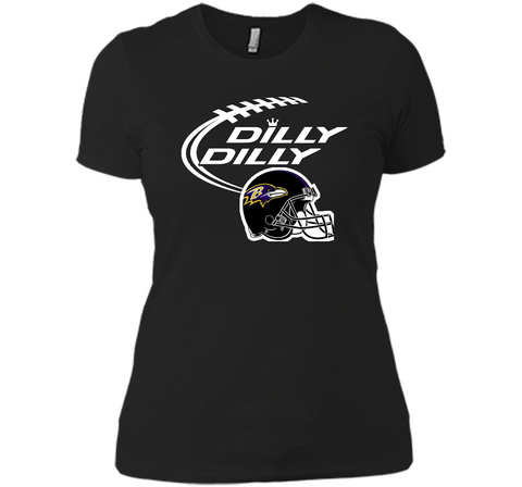 Dilly Dilly Baltimore Ravens Logo American Football Team Bud Light Christmas T-Shirt Black / Small Next Level Ladies Boyfriend Tee - PresentTees