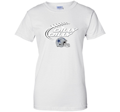 Dilly Dilly Dallas Cowboy Logo American Football Team Bud Light Christmas T-Shirt Ladies Custom - PresentTees