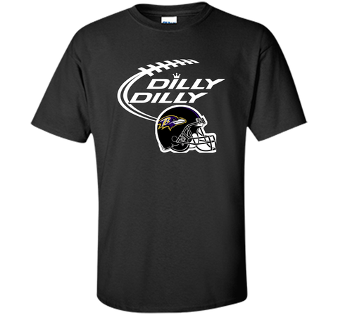 Dilly Dilly Baltimore Ravens Logo American Football Team Bud Light Christmas T-Shirt Black / Small Custom Ultra Cotton Tshirt - PresentTees