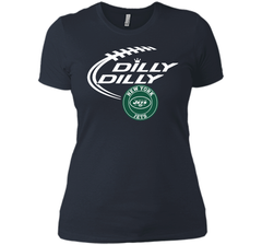 DILLY DILLY New York Jets shirt Next Level Ladies Boyfriend Tee - PresentTees