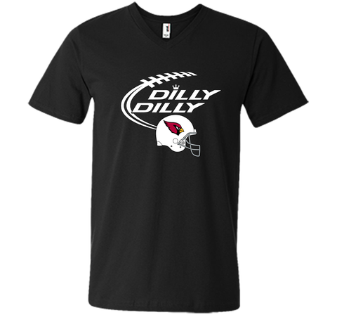 DILLY DILLY Arizona Cardinals NFL Team Logo Black / Small Men Printed V-Neck Tee - PresentTees
