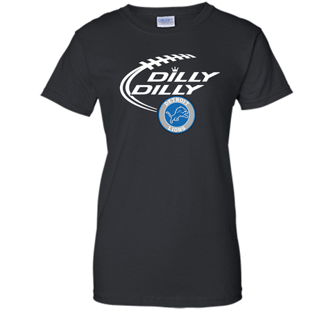 DILLY DILLY Destroit Lions shirt Black / Small Ladies Custom - PresentTees