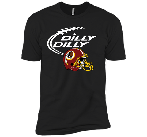 DILLY DILLY Washington Redskins NFL Team Logo Black / Small Next Level Premium Short Sleeve Tee - PresentTees