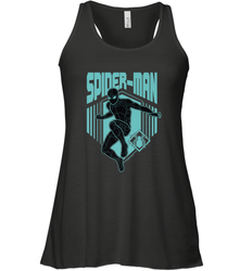Marvel Spider Man Far From Home Stealth Suit Silhouette Women's Tank Top