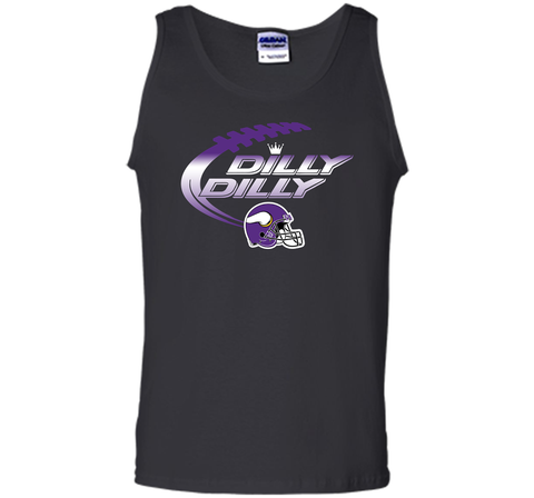 Minnesota Vikings Dilly Dilly T-Shirt NFL Football Gift Fans Black / Small Tank Top - PresentTees