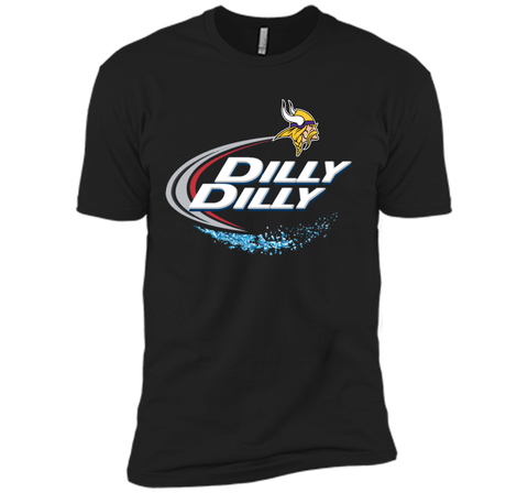 Vikings Dilly Dilly T-Shirt Minnesota Vikings NFL Football Gift Fans Black / Small Next Level Premium Short Sleeve Tee - PresentTees